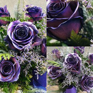 metallic purple roses for Sale in Spanaway, WA
