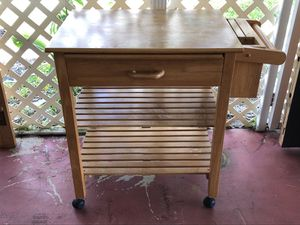 Wooden Rolling Table for Sale in Coconut Creek, FL