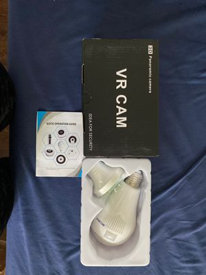 Panoramic View WiFi IP Bulb Camera with FishEye Lens 360 Degree 3D VR View for Sale in Joint Base Lewis-McChord, WA