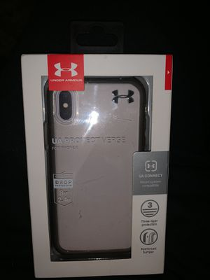 Iphone x under armour case for Sale in Martinsburg, WV