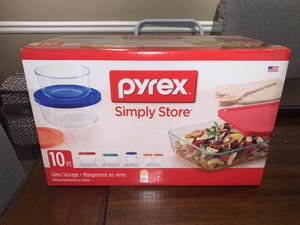Brand new 10 PC Pyrex glass storage containers. for Sale in Smyrna, GA