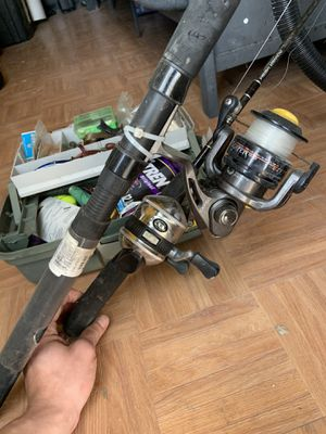 Fishing rods and tackle box for Sale in Denver, CO