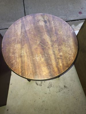 Antique Vintage Imperial Michigan Mahogany Side Accent Table Early 1900's #1807 on bottom for Sale in Oklahoma City, OK