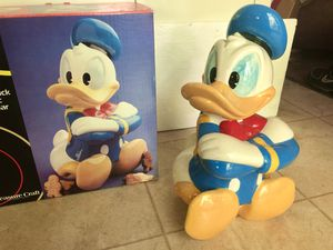 Mint Vintage Retired Walt Disney Donald Duck Cookie Jar w/Original Box for Sale in Amherst, OH