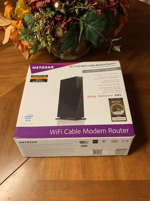 Netgear AC1750 Wifi Cable Modem Router for Sale in Somerset, NJ