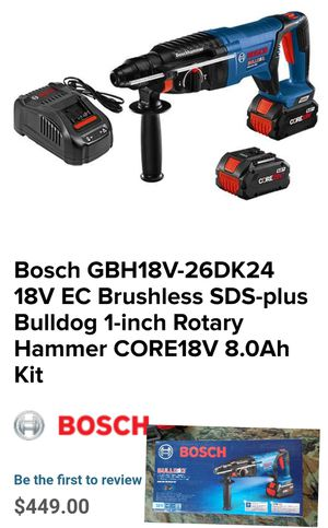 Bosch SDS-PLUS BULLDOG HAMMER DRILL for Sale in Austell, GA