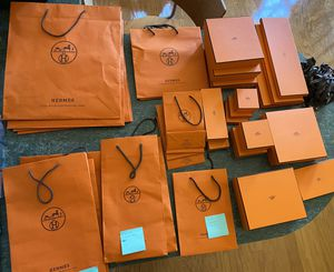Lot of a variety of Hermès gift bags and/or boxes for Sale in Diamond Bar, CA