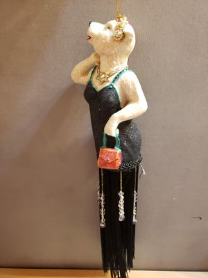 "Bear in Flapper Dress 1920s Era Style Christmas Ornament 12"" for Sale in Willow Spring, NC"