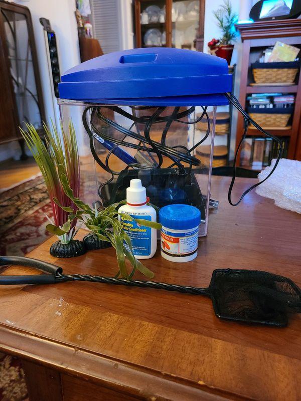Betta fish tank plants filter and food