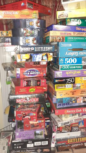 Many Games and puzzles to keep the family busyprices range from $15-$50 for Sale in Tarpon Springs, FL