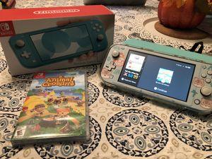 Nintendo Switch Lite in teal + Animal Crossing New Horizons for Sale in Waterbury, CT