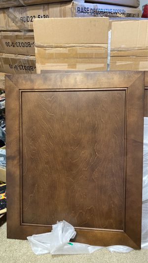 Brown kitchen cabinet decorative base doors for Sale in Federal Way, WA