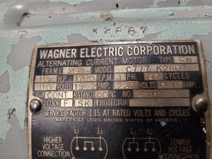 Wagner Induction Repulsion Motor 1-1/2HP 1PH 1750RPM 110/220V for Sale in Granite Falls, WA