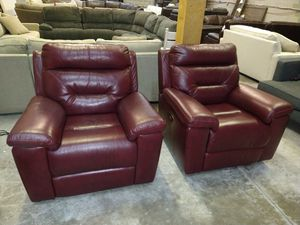 Robinson 2pc Italian leather chair set for Sale in Decatur, GA
