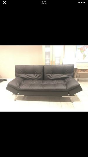 Costco leather futon for Sale in Chicago, IL