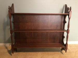 Vintage wall mounted wood shelving unit for Sale in Wichita, KS