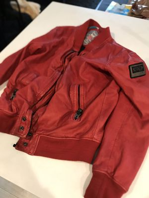 Diesel Red leather jacket .Cheap for Sale in Los Angeles, CA