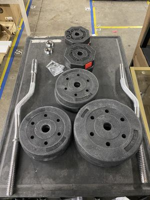 Olympic Barbell Weight Set for Sale in North Haven, CT