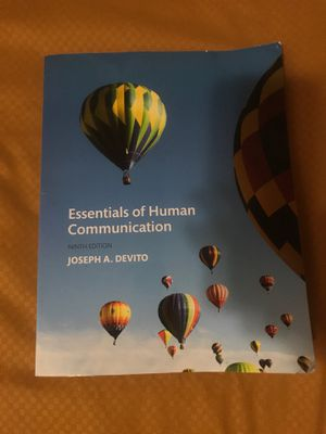 Essentials of human communication 9th edition for Sale in Newark, NJ