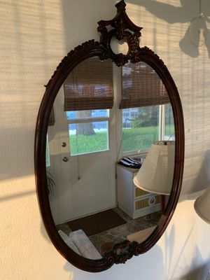 Large Mahogany antique mirror for Sale in Deerfield Beach, FL