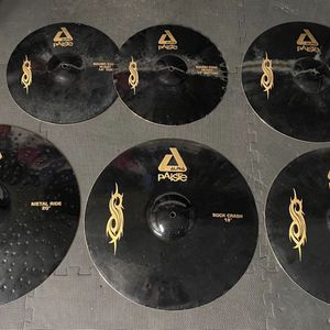 """🤯 Paiste Limited Edition """"Slipknot"""" Black Alpha Series Drum Cymbal Set 20/19/18/17/14"""" Hi Hats 🤯 for Sale in Los Alamitos, CA"""