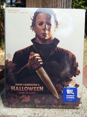 Halloween (1978) 4K UltraHD + Blu-ray + Digital Code Steelbook Best Buy Exclusive Brand New for Sale in San Fernando, CA