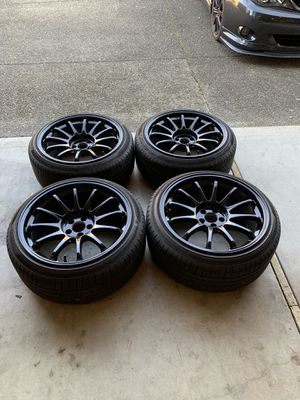 18inch black rims and all season tires for Sale in Gresham, OR
