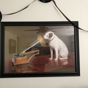 RCA Dog Poster And frame for Sale in Brea, CA