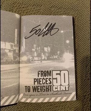 "50 Cent Signed Book ""From Pieces To Weight"" Autographed Eminem Dr. Dre for Sale in Lancaster, PA"