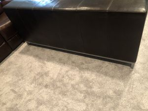 Ikea dark brown leather couch for Sale in Gambrills, MD