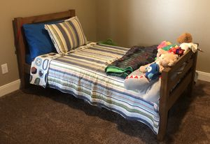Wood twin bunk bed for Sale in Marion, TX