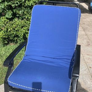 Beautiful, Comfortable Black Metal And Royal Blue Cushioned Outdoor-rocking Chair for Sale in Fort Lauderdale, FL