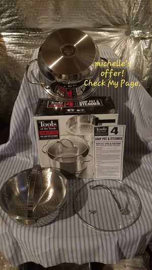 Tools of the trade 4Qt steamer and soup pot, Dishwasher Safe, Brand new for Sale in Temple Hills, MD