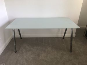 Ikea Desk with Glass Top & Metal Legs for Sale in Castro Valley, CA