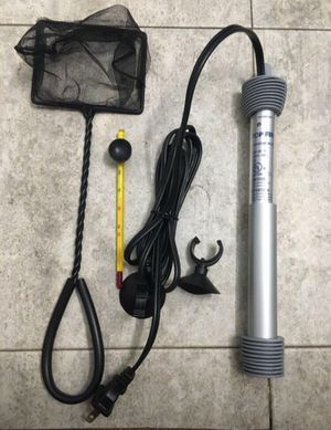 NEW Aquarium 50 W Heater/100 W Heater, Fish Tank Net, Tank Thermometer Kit Supplies for Sale in Arlington, VA
