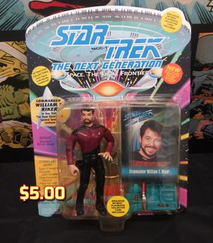 1993 Playmates Star Trek The Next Generation Action Figure Commander Riker MOC for Sale in Alameda, CA