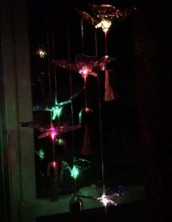 Solar Butterfly Wind Chimes Lights with Bell for Sale in Quincy,  IL