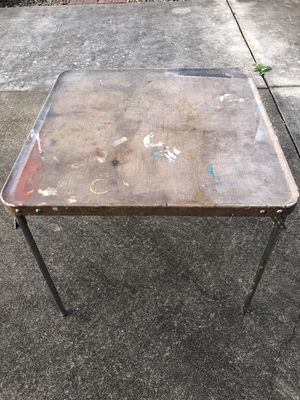 Card table fold up legs, sturdy steel construction for Sale in Troutdale, OR