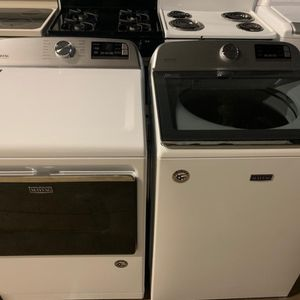 Maytag washer and dryer Open Box New APPLIANCES Available For Pick Up Or Deliver for Sale in Hanover, MD