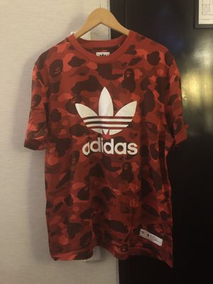 BAPE x Adidas adicolor Tee Raw Red for Sale in Herndon, VA