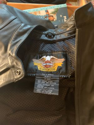 XL Leather Harley-Davidson Motorcycle Jacket for Sale in Grove City, OH