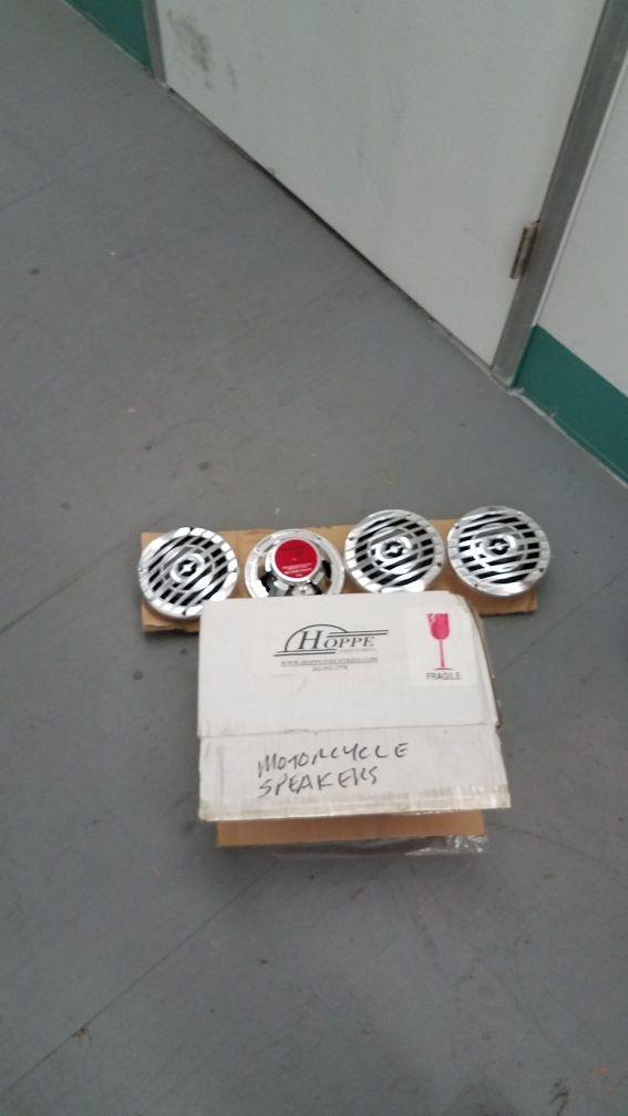 Waterproof 40 watt chrome speakers