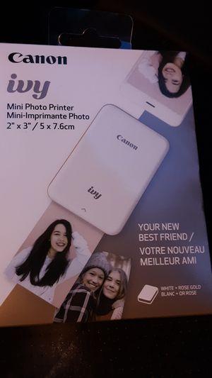 Canon ivy mini photo printer for Sale in Temecula, CA