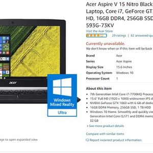 Acer Aspire V 15 Nitro Black Edition for Sale in Alhambra, CA