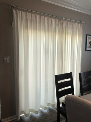 Off white thermal curtain for Sale in Ashburn, VA