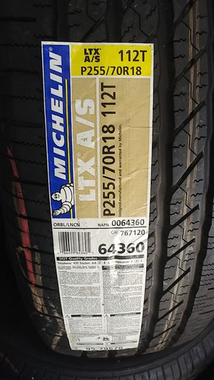 Michelin p255/70r18 brand new set for Sale in Inglewood, CA