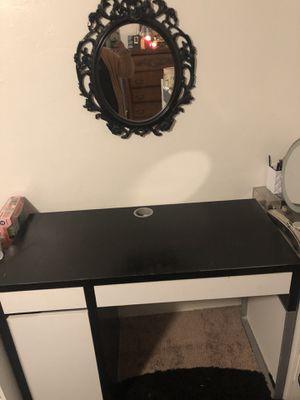 IKEA desk and mirror for Sale in Corona, CA