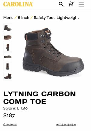 Carolina Boots: Men's Brown LT650 Composite Toes for Sale in Miami, FL