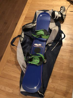 Snowboard with boots and bag for Sale in Easton, MA