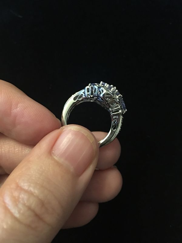 Genuine Tanzanite and silver ring size 5